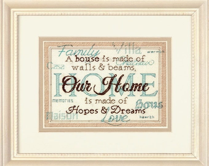 Home Mini Counted Cross Stitch Kit by Dimensions