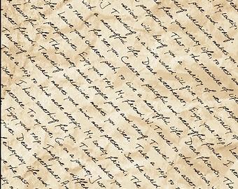 Dear Friends Letter Words Fabric // Paintbrush Studio 120-15071 Tan by the Half Yard