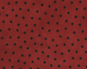 1/2 yd Woolies Flannel Deep Red Polka Dot by Bonnie Sullivan for Maywood Studio Fabric MASF18506-R