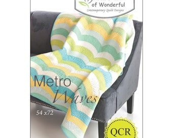 Metro Waves by Sew Kind of Wonderful Contemporary Quilt Designs #401