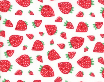 1/2 yd Farm Fresh Novelty Children Strawberry Patch by Gingiber for Moda Fabrics 48263 11