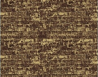 1/2 yd Cat and the Fiddle Brick Wall Fabric by Whistler Studios for Windham Fabrics 51097-7