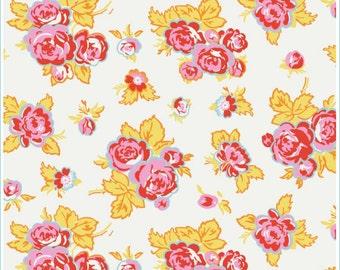 1/2 yd Penny Rose Riley Blake Milk, Sugar & Flower Main Floral Fabric by Elea Lutz C4340 CREAM