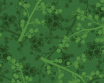 1/2 yd Jubilee Holiday Pine Berries by Amanda Murphy for Contempo Studio Fabrics  5427-44