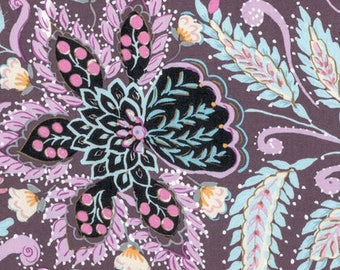 1/2 yd Isabelle Ornate by Dena Designs for Free Spirit PWDF247.PLUMX