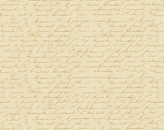 1/2 yd Festive Forest Tan Script Fabric by Wilmington Prints 3007 68480 252