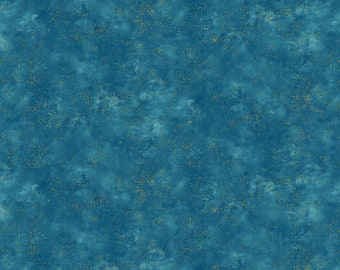 1/2 yd Artisan Spirit Shimmer Dragonfly Moon Royal Garden by Deborah Edwards for Northcott Studio 20259M-62