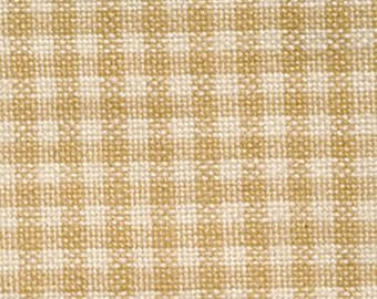 Homespun Woven Gingham Fabric // Dunroven Tan // by the Half Yard