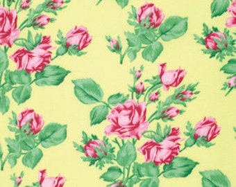 1/2 yd Snapshot Rose Garden by Verna Mosquera for FreeSpirit Fabrics PWVM113 Butter