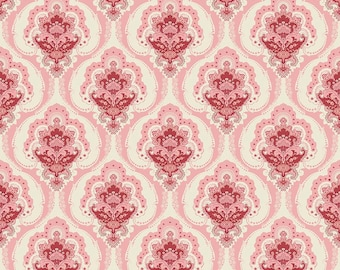 "END of BOLT 9"" Beaujolais Main Floral Fabric by Sue Daley for Penny Rose & Riley Blake Designs C5110 Pink"