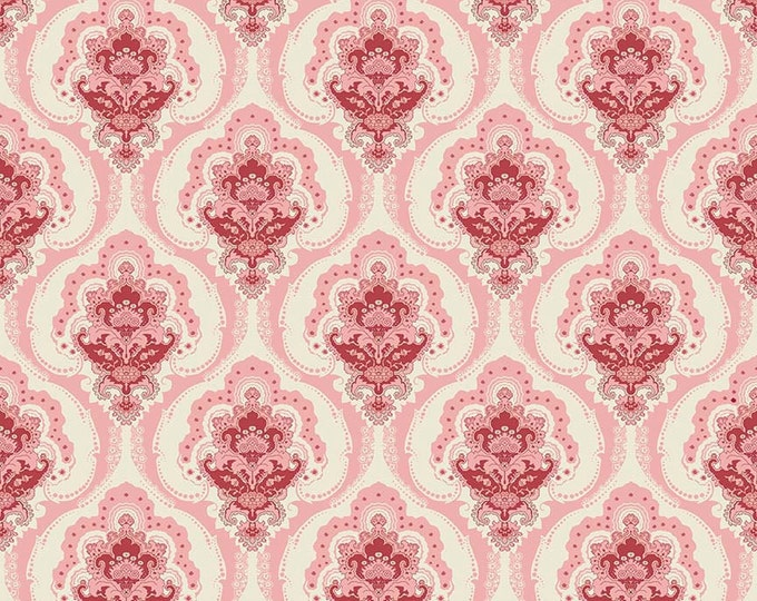 1/2 yd Beaujolais Main Floral Fabric by Sue Daley for Penny Rose & Riley Blake C5110 Pink