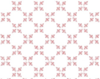 1/2 yd Bicycles and Blooms Shirting Print by Jillily Studios for Henry Glass #9879 8 Red