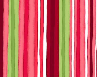 "END of BOLT 14"" Chloe Watercolor Stripe Fabric by Maywood Studio MAS9186-P"