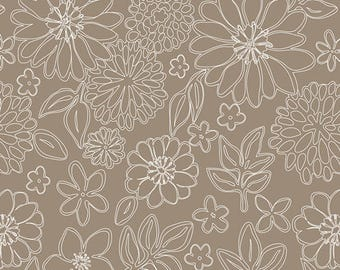 """END of BOLT 27"""" Gossamer Wire Flowers by Sharon Holland for Art Gallery Fabrics GSS-6249"""
