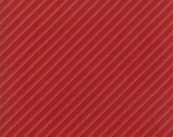 1/2 yd Farmhouse Reds Bias Stripe by Minick & Simpson for Moda Fabrics 14853 11