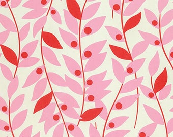 SALE Nicey Jane Lindy Leaf Fabric by Heather Bailey for Free Spirit PWHB067.PINKX PER yard