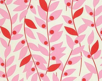 1/2 yd Nicey Jane Lindy Leaf by Heather Bailey for Free Spirit PWHB067.PINKX