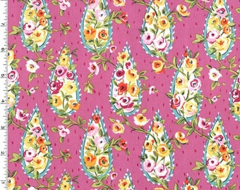 1/2 yd Kashmir Garden Rambling Rose by Sarah Campbell for Michael Miller Fabrics DC7977-PEON-D