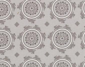 1/2 yd Jubilee Bunny Medallion by Bunny Hill Designs for Moda Fabrics 2853 20 Grey
