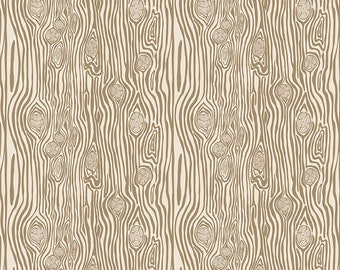 1/2 yd High Adventure 2 Woodgrain by Design by Dani for Riley Blake Fabrics C7254 Tan