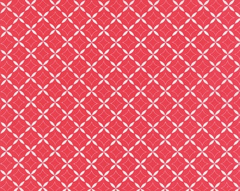 Summerfest Fruit Punch Floral Tank Top Fabric // Moda Fabrics 24033 40 Red by the HALF YARD