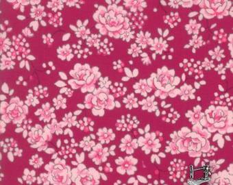 1/2 yd Regent St Lawn Classic Floral Claremont Burgundy 2016 by Moda Fabrics 33197 16 Claret