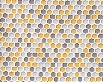 1/2 yd Bee Joyful Honeymoon // Honeycomb by Deb Stain for Moda Fabrics 19875 14