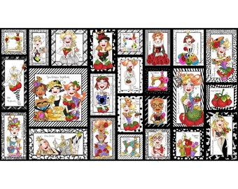 "Sew Curious 23"" Quilt Panel by Loralie Designs 692-341"