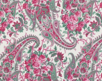 SALE Billet Doux Flora Paisley Fabric by Verna Mosquera for Free Spirit PWVM094 per YARD