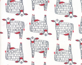 1/2 yd Farm Fresh Novelty Children Moo by Gingiber for Moda Fabrics 48261 11