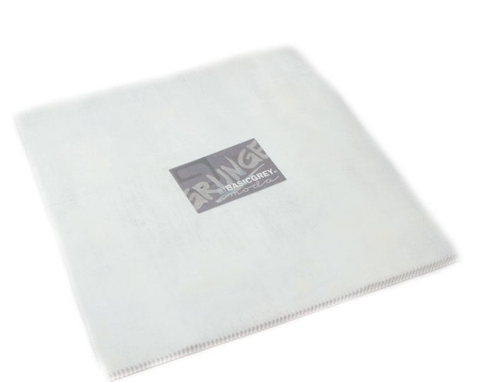 FREE SHIPPING Grunge Basics White Paper Junior Layer Cake® by BasicGrey for Moda Precuts 30150JLC 101