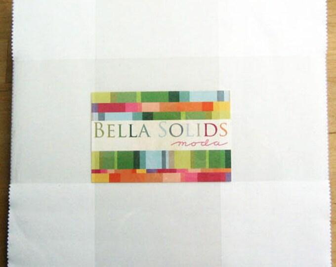 FREE SHIPPING Bella Solids Layer Cake® White Moda Precuts 9900LC 98