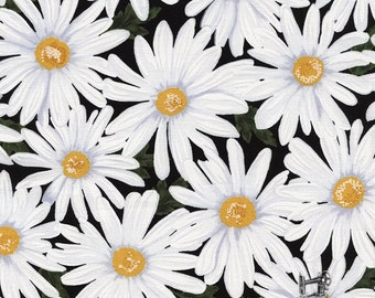 1/2 yd Live, Love, Laugh, Packed Daisies Fabric by Timeless Treasures C4426