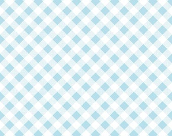 1/2 yd Sew Cherry 2 Gingham Fabric by Lori Holt for Riley Blake C5808 Aqua