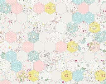 1/2 yd Serendipity Hexagon by Riley Blake Fabrics C7261 Cream
