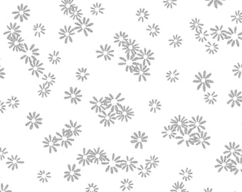 Metallic Mixers Flowers Fabric // Kanvas Studio // Benartex 7719M-09 by the Half Yard
