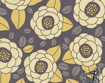 1/2 Yd Aviary 2 Bloom Granite by Joel Dewberry for FreeSpirit Fabrics JD45.GRANI
