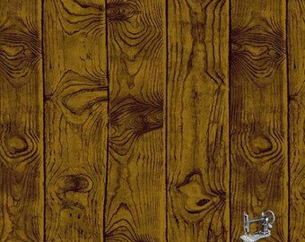 1/2 yd Majestic Woods Walnut Woodgrain Fabric by Suite 1500 for Andover A-8587-KN