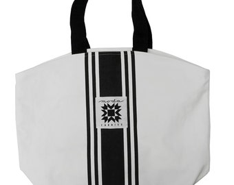 free shipping Urban Cottage Large Canvas Tote Bag 963 66 Moda Center Stripe