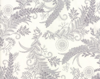 1/2 yd Bee Inspired Novelty Botanical Sketch Laurel by Deb Stain for Moda Fabrics 19794 18