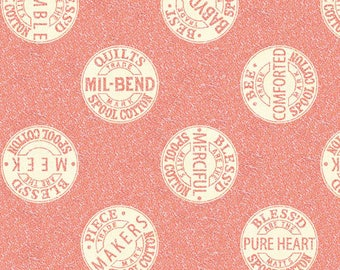 1/2 yd QUILTING B'S BEE-ATTITUDES Spool Tops Fabric by Quilting Treasures Fabric 24958 -P