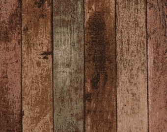 1/2 yd Beautiful Garden Wood Fence Fabric by Lecien Corp. LEC31784-80