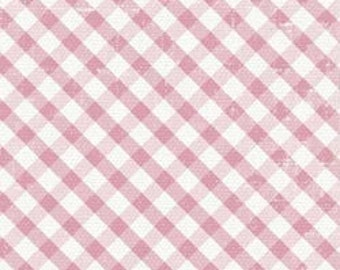 SALE Shabbylicious Pink Gingham Fabric by FabScraps C60 04 PER yard