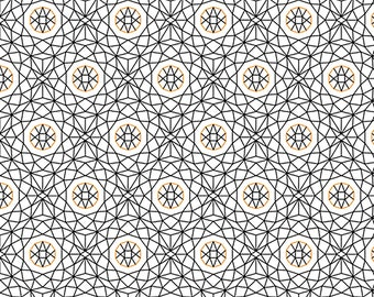 1/2 yd Whisper Geometric Fabric from Quilting Treasures 26767-Z White