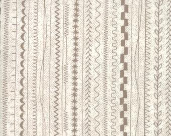 1/2 yd Maven Stitches Taupe by BasicGrey for Moda Fabrics 30465 20