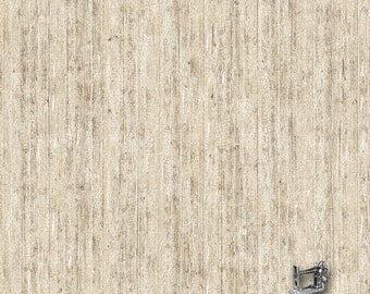 1/2 yd Bird Song Wood Fence Fabric by Northcott 22436-12