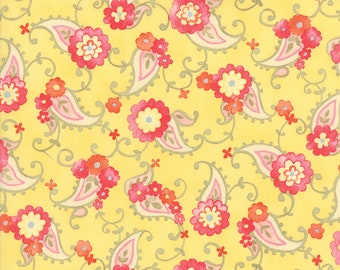 1/2 yd Nanette Floral Paisley by Chez Moi for Moda Fabrics 33164 15 Butterscotch