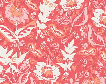 SALE Reminisce Wonderment Teaberry Fabric by Bonnie Christine for Art Gallery Fabrics RMS 2506 PER yard