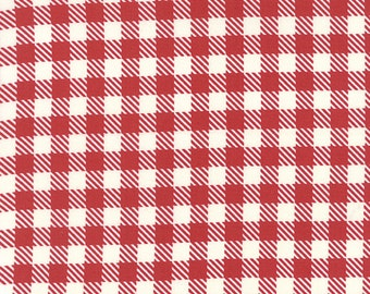 """END of BOLT 11"""" Volume II Gingham by Sweetwater for Moda Fabric 5616 12 Apple Red"""