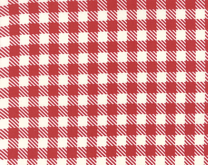 1/2 yd Volume II Gingham by Sweetwater for Moda Fabric 5616 12 Apple Red